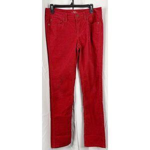 Loft red corduroy modern straight 6 pants